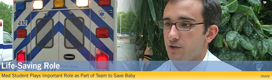 Life-saving role - Med student plays important role as part of team to save baby - more